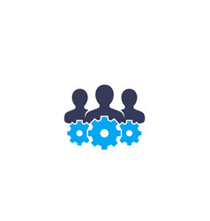 Team interaction hr staff management icon vector
