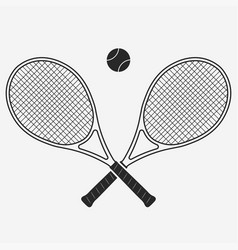 tennis racket and ball vector image