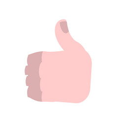thumbs up isolated brutal mans like symbol on vector image