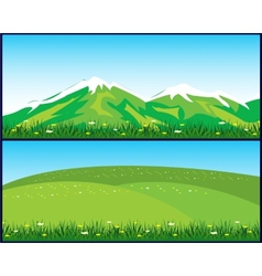 Two landscapes vector