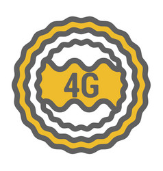 Unusual flat 4g logo icon with geometric design vector