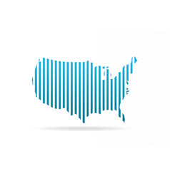 usa united states stripes map graphic vector image