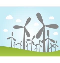 Wind power plants vector