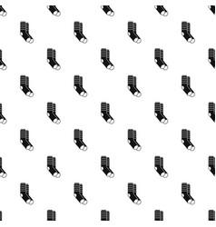 winter socks pattern seamless vector image