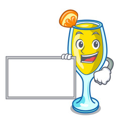 With board mimosa character cartoon style vector
