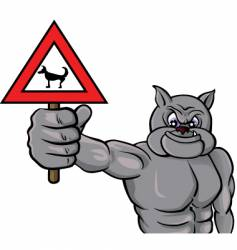 beware dog vector image vector image