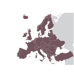 europe detailed map vector image
