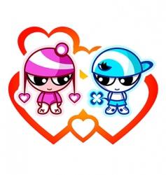 kids in love vector image vector image