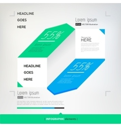 modern abstract infographics elements vector image vector image
