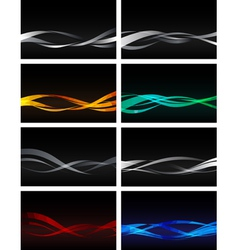 Set of Backgrounds on black vector image vector image
