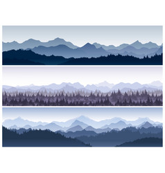 set of horizontal backgrounds vector image