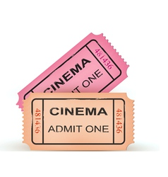 two cinema tickets vector image vector image