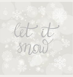 winter typographic lettering vector image