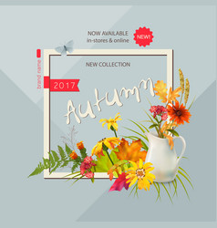 autumn advertising banner vector image