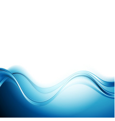 Bright blue abstract water waves design vector image vector image