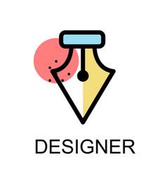 fountain pen nib icon for designer on white vector image vector image