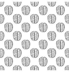 Human brain pattern seamless vector image