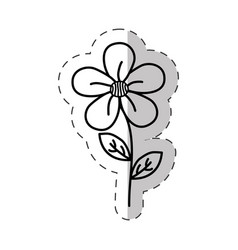 jasmine flower decoration cut line vector image vector image