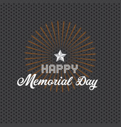 memorial day background with white stars vector image