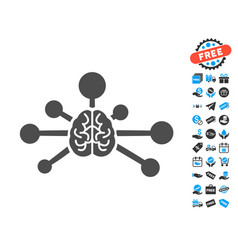 mind control links flat icon with free bonus vector image vector image