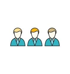 Social Icon Employees vector image vector image