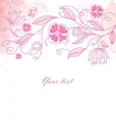 floral back blob vector image vector image