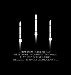 flying rockets black and white typography t vector image
