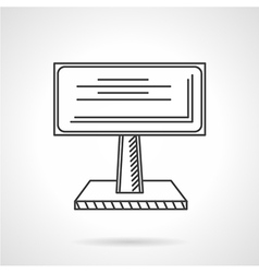 Advertising billboard line icon vector image vector image