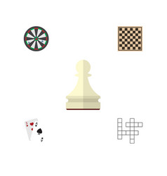 flat icon entertainment set of chess table ace vector image