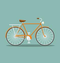 flat orange bicycle vector image