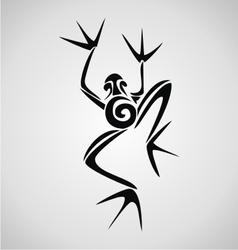 Frog Tribal vector image