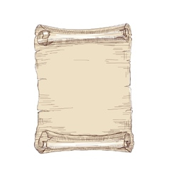 hand drawn old scroll vector image