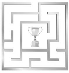 maze problem vector image vector image