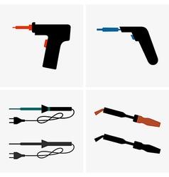 Soldering iron vector image vector image