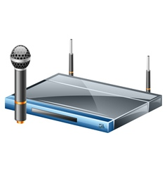 wireless microphone vector image vector image