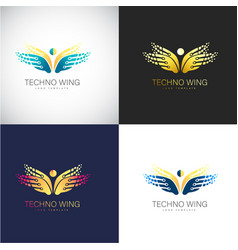 abstract 3d butterfly logo template for your vector image