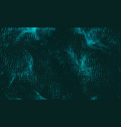 abstract big data visualization cyan vector image