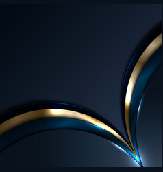 Abstract blue and gold circles overlapping layer vector