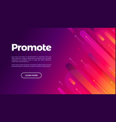 Abstract geometric landing page colorful vector