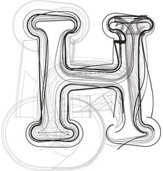 Abstract hand drawn letter h vector