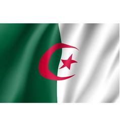 Algeria realistic flag vector