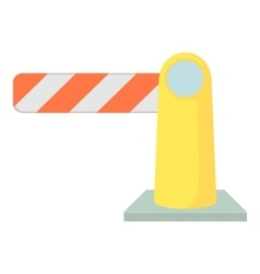 Barrier icon cartoon style vector image