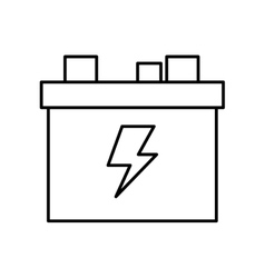 Battery car icon Energy design graphic vector