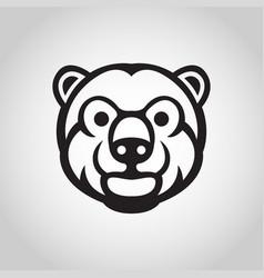 bear logo icon vector image