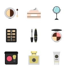 Beauty icons set flat style vector