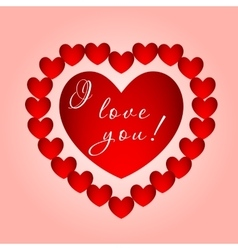 big heart with inscription vector image