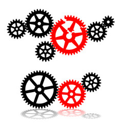 broken gear in mechanism vector image