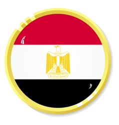 Button with flag Egypt vector