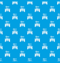 car and key pattern seamless blue vector image