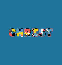 christ concept word art vector image